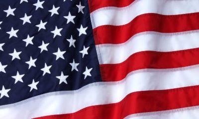 Nylon American Flag closeup 1